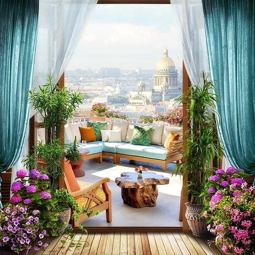 "Фотообои или фреска ""Балкон"""