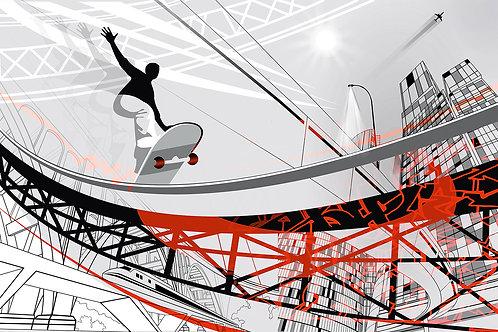 Дизайнерские фотообои - Скейтбордер