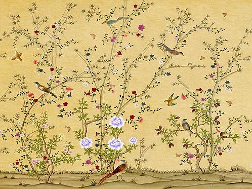 Фотообои или фреска - Деревья и птички в китайском стиле
