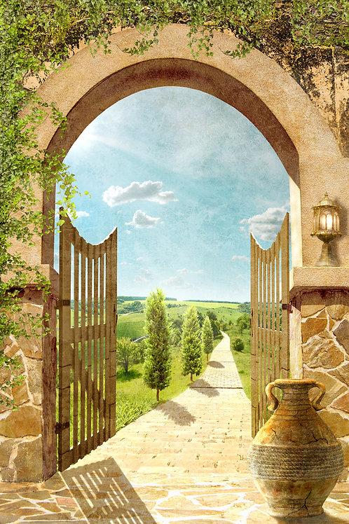 Фотообои или фреска - Арочные ворота