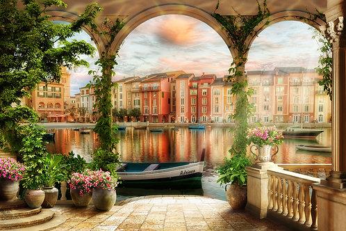 Фотообои или фреска - Терраса на набережной