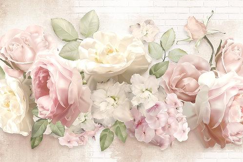 Фотообои - Crema flower