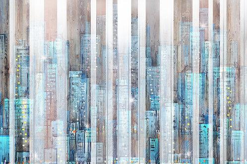 Дизайнерские фотообои - Город на дереве