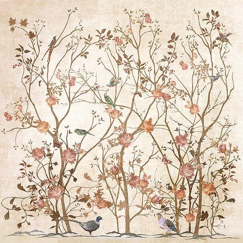 Фотообои или фреска - Веточки и птички