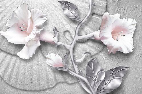 Фотообои на стену - 3d цветы