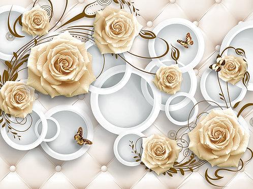 Фотообои - Розы на обивке