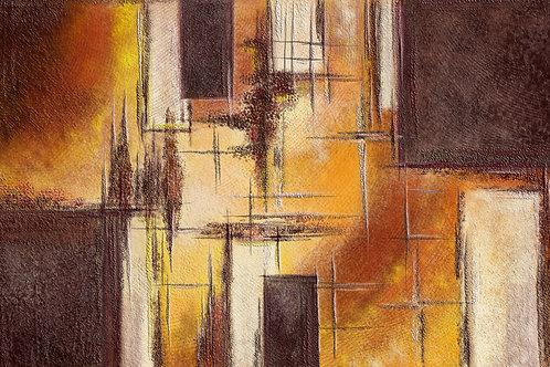 Картина на холсте - Геометрическая абстракция