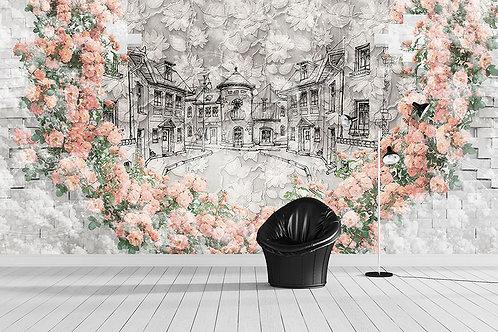 3д фотообои - Фантазия в розах