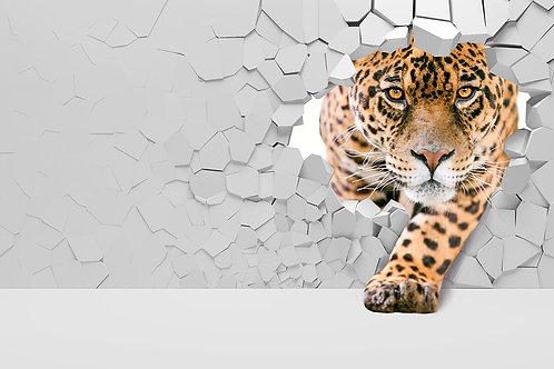 3d фотообои - Леопард