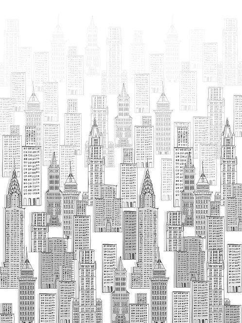 Фотообои - Рисунок мегаполиса