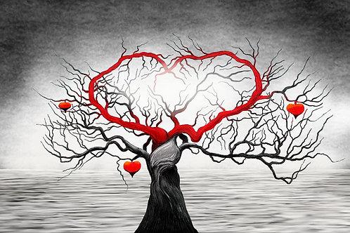 Картина на холсте - Дерево-сердце