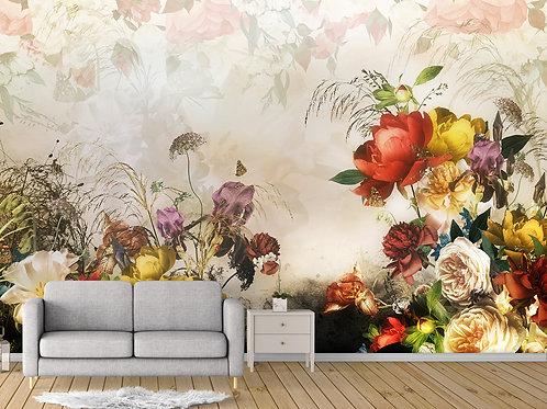 3d фотообои - Роскошные цветы