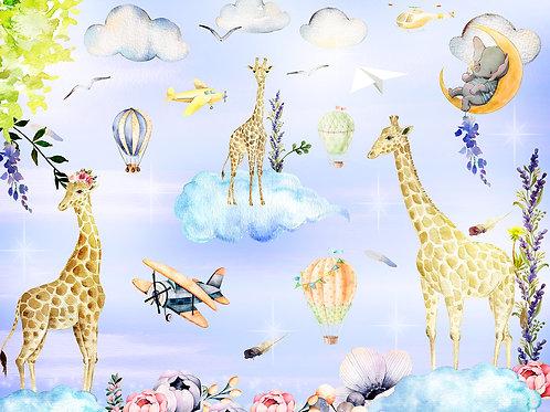 Детские фотообои - Жирафы