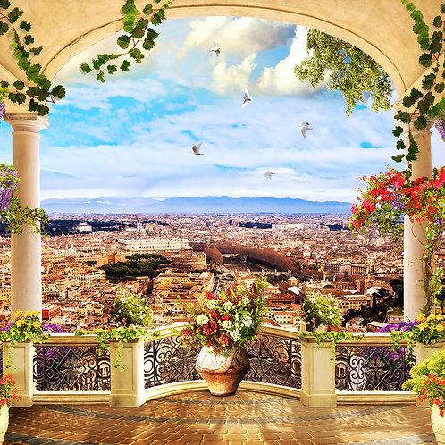"""Фотообои или фреска """"Балкон над Римом"""""""
