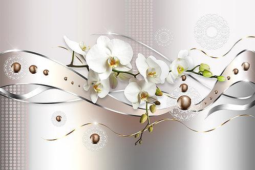 3д фотообои - Орхидеи