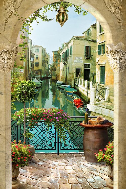 Фотообои или фреска - Вид с мостика в Венеции 2
