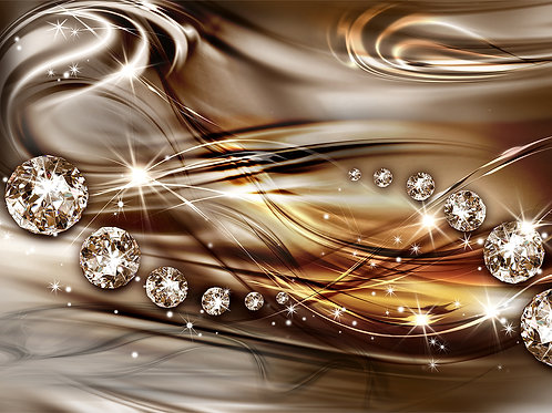Фотообои или фреска - Алмазы в шоколаде