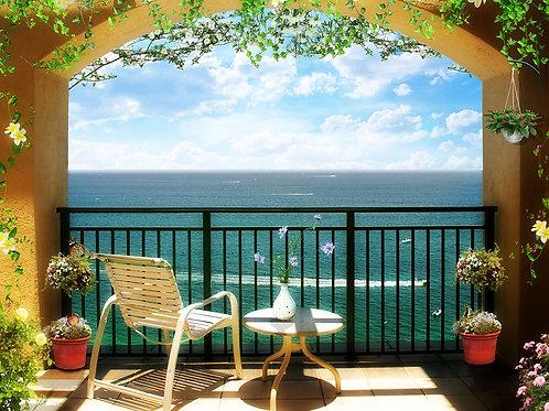 Фотообои или фреска - Морской балкончик