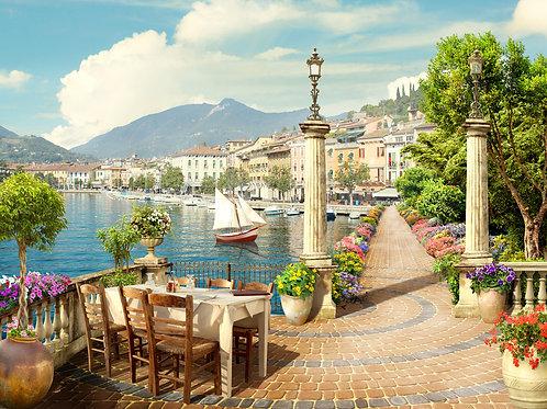 Фотообои или фреска - Набережная в Италии