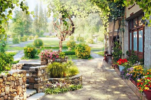 """Фотообои или фреска """"В саду"""""""