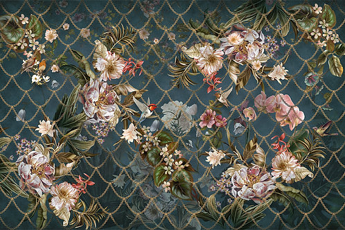 Фотообои на стену -Цветочный инсайд