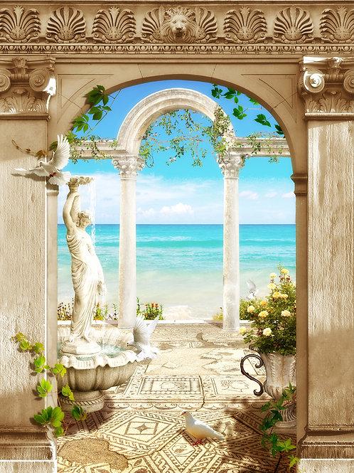 Фотообои или фреска - Морская арка