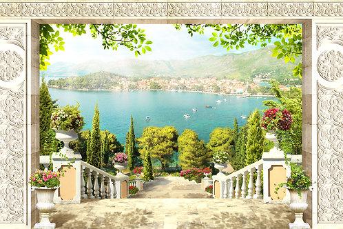 Фотообои или фреска - Лестница к морю