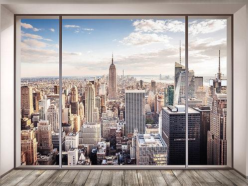 """Фотообои """"Окно в Нью-Йорк"""""""