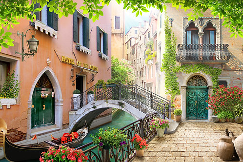 """Фотообои или фреска """"Венецианский мостик"""""""