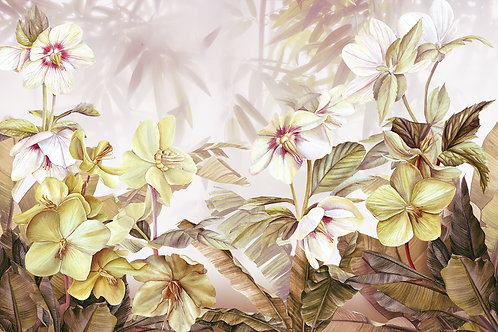 Дизайнерские фотообои на стену с цветами