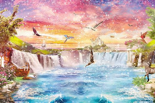 Дизайнерские фотообои с волшебным водопадом