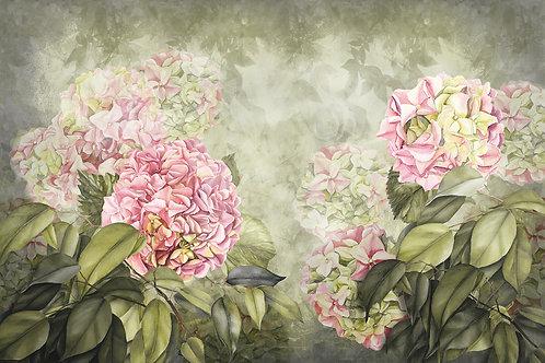 Дизайнерская фреска с цветами