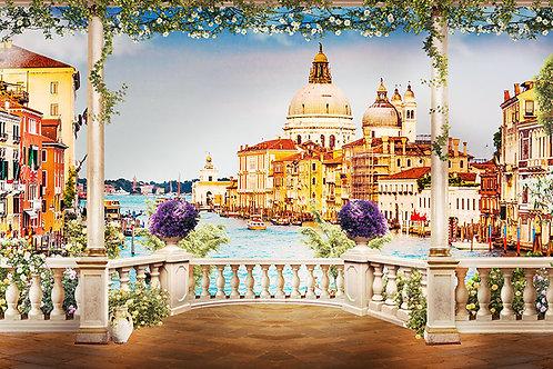 Фотообои или фреска - Балкон в Венеции