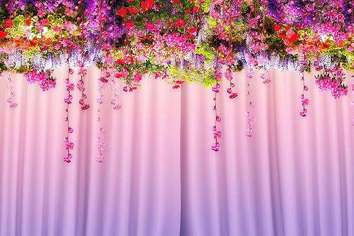 3d фотошторы - Цветы