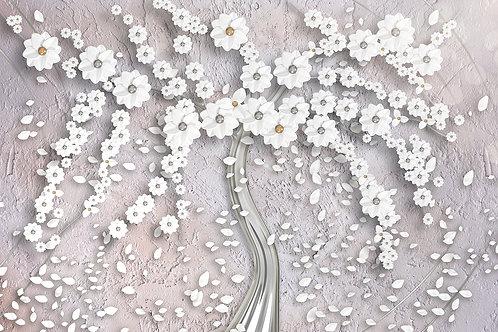 3d фотообои - Silver tree