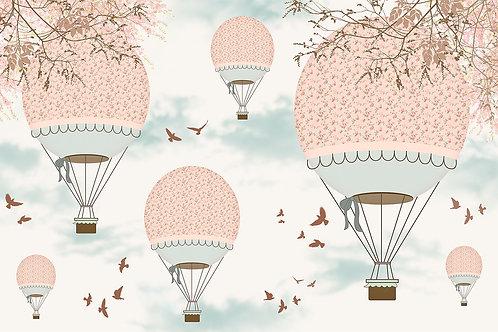 Детские фотообои с воздушными шарами