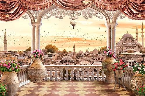 """Фотообои или фреска """"Восточный балкон"""""""