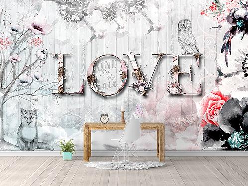 Дизайнерские фотообои - Love