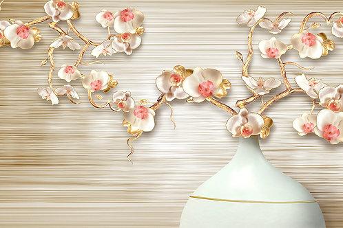 3d фотообои на стену - Ваза с цветами