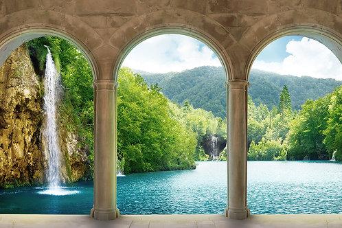 3d фотообои - Водопады в Хорватии