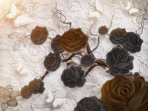 3d фотообои - Магия роз