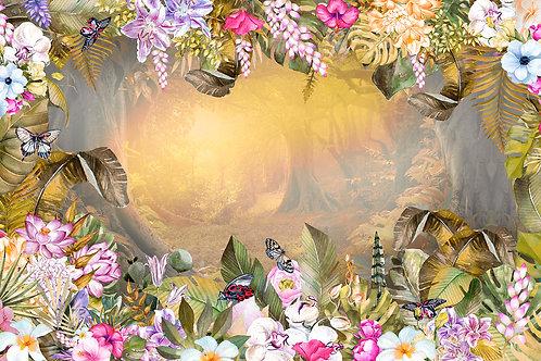 Дизайнерские фотообои - Волшебный лес осенью