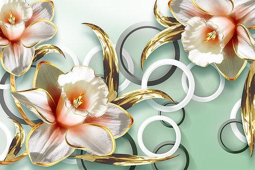 Дизайнерские фотообои - Роскошные цветы