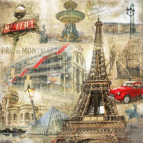 Фотообои на стену - Винтажный Париж