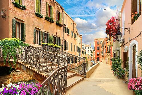 """Фотообои или фреска """"Улица в Венеции"""""""