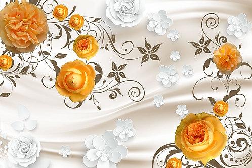3d фотообои - Желтые розы