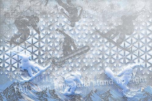 3d фотообои - Сноубордисты