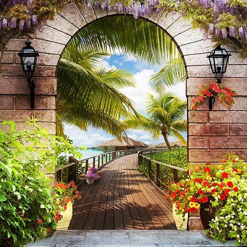Фотообои или фреска - Тропическая арка