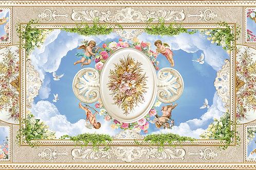 Фотообои или фреска для потолка