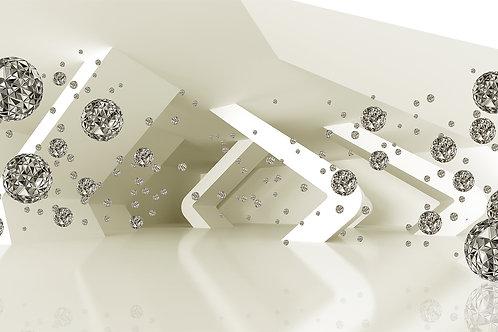 3д фотообои с брилиантами